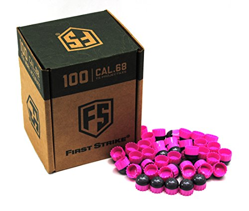First Strike Paintballs 100Ct- Smoke/Pink Pink Fill by First Strike