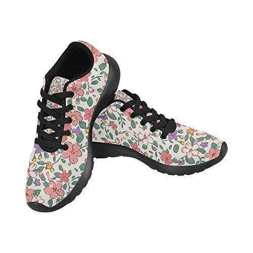 InterestPrint Womens Jogging Running Sneaker Lightweight Go Easy Walking Comfort Sports Athletic Shoes Multi 7 lNg4U