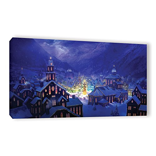 - ArtWall Philip Straub's Christmas Town Gallery Wrapped Canvas, 24 x 48