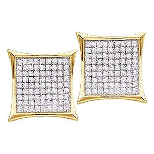Gold Kite 14k (Roy Rose Jewelry 14K Yellow Gold Ladies Diamond Kite Cluster Earrings 7/8 Carat tw)