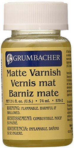 Grumbacher Matte Final Varnish for Oil Paintings,  2-1/2 Oz. Jar, #5702