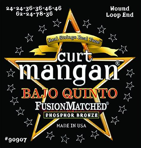 Curt Mangan Bajo Quinto String Set Wound Loop End, Phosphor Bronze by Curt Mangan