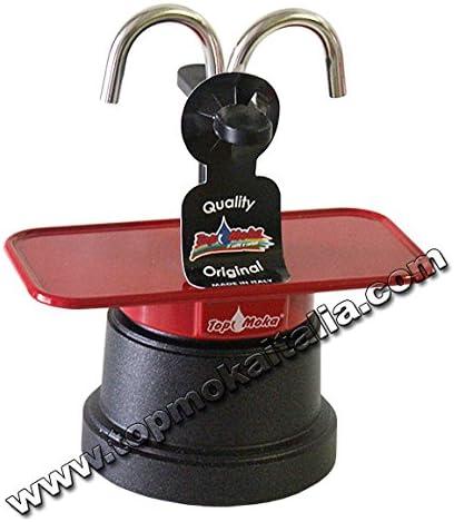 Cafetera mini Moka 2 taza teflón color roja: Amazon.es: Hogar