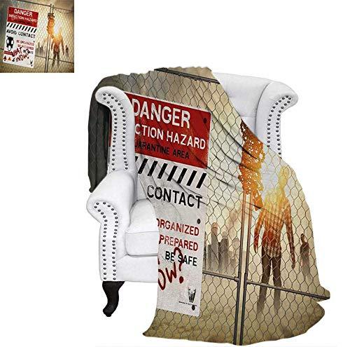 Digital Printing Blanket Dead Man Walking in Dark Danger Scary Scene Fiction Halloween Infection Picture Lightweight Blanket 62