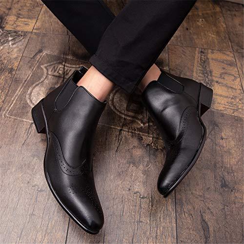 Mode Brogue Taille 38 Eu Bottes Commode Les La Pour Marron Occasionnelle Hommes Cheville Découpant De Botte Haute color Supérieure Classique Noir Yjiaju pnAtqxp