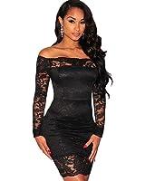 Carolina Dress Vestidos De Fiesta Negros Sexys Cortos mangas Largas Ropa De Moda Para Mujer 2018