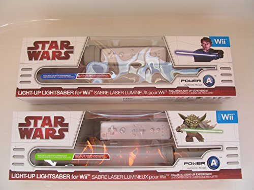 Official Star Wars Wii Anakin and Yoda Light-Up Lightsabers - Dueling - Official Wars Wii Star