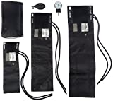 Prestige Medical 3-in-1 Aneroid Sphygmomanometer Set With Carry Case, Black