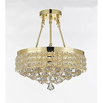 Semi flush mount french empire crystal chandelier chandeliers semi flush mount french empire crystal chandelier chandeliers lighting ht 17 x wd 15 aloadofball Image collections