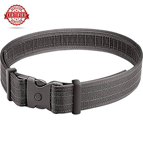 (MagnumGear1 Duty Belt -Tactical Combat Belt and Competition Rigger- Police Utility Strap - with Tri Lock Secure System-)