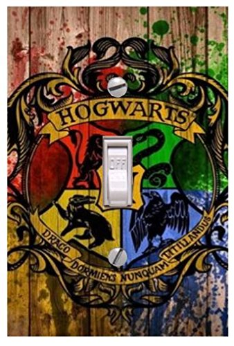 Hogwarts lightswitch cover - Wizards room decor- Harry Potter decorations