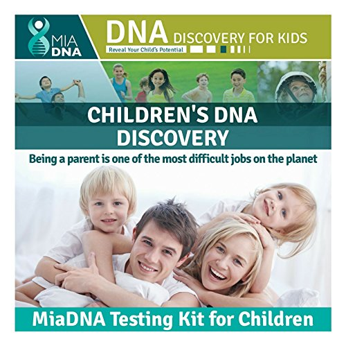 MiaDNA genetic home DNA Test Kit for your kid I Reveal their potential I Find out how genes influence who they are I Latest genetic research related to your kid's physical and behavioral tendencies