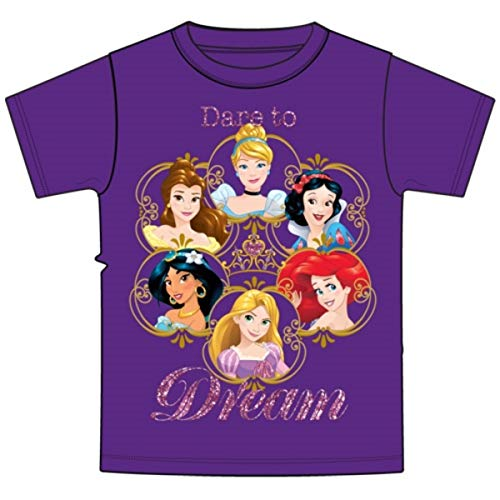 Disney Youth Girl's Princess Dare to Dream T-Shirt (Medium) Purple]()