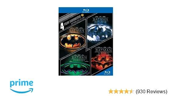 4 Film Favorites: Batman Collection (Batman / Batman Returns / Batman Forever / Batman & Robin) [Blu-ray]