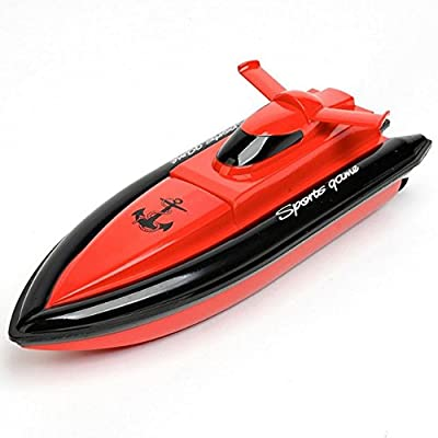 RC Boat SZJJX Remote Control High Speed Electric Race Boat 4 Channels for Pools, Lakes and Outdoor Adventure JX800 Red