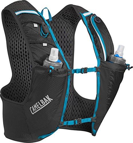 CamelBak Ultra Pro Hydration Vest, Black/Atomic Blue, Medium Camelbak Black Classic Hydration Pack