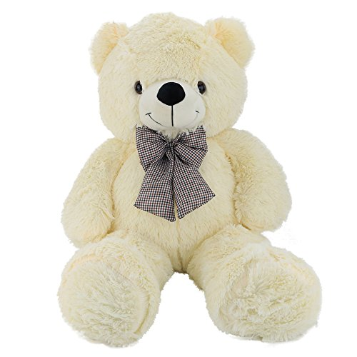 Wewill Easter Gift HuggableStuffed Animal Giant Teddy Bear with Cute Bowtie, 39 inch, (Giraffe Newborn Teddy Bears)