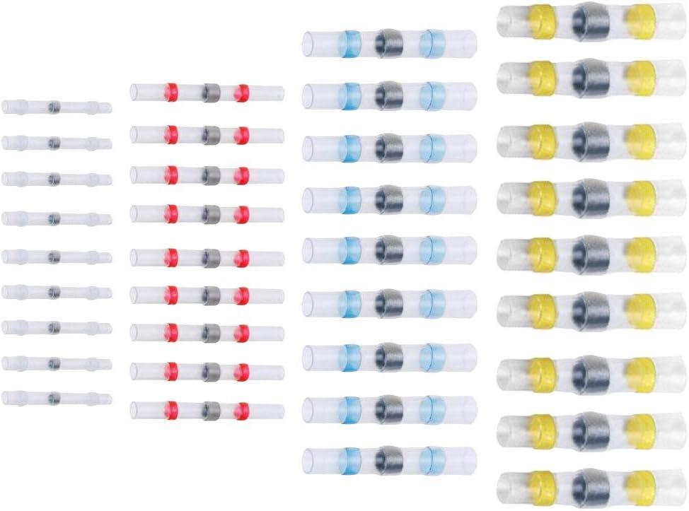 25, Rot - 40 * 2,7 mm L/ötverbinder Schrumpfschlauch Quetschverbinder Kabelverbinder Wasserdicht