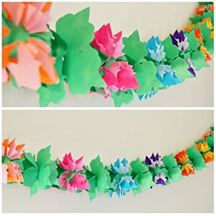 Luau Flower Shaped Paper Garland