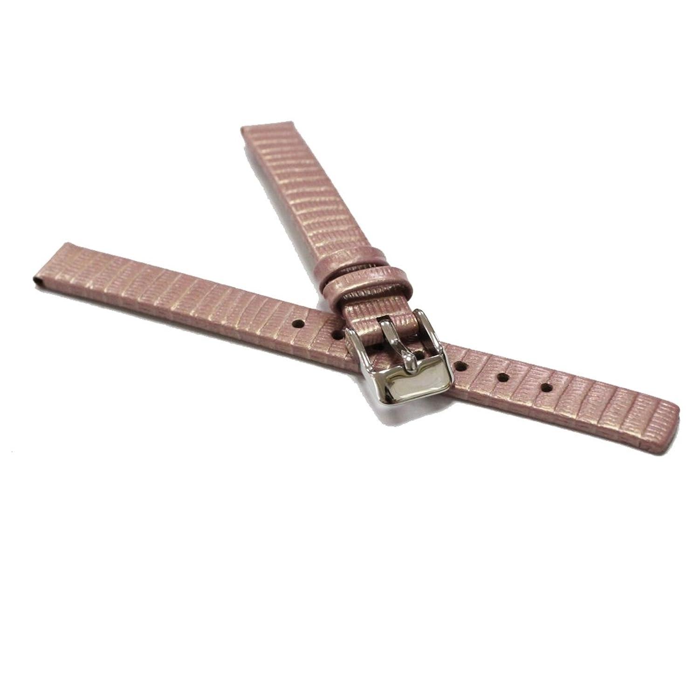 Alexis 12mm ウォッチストラップ本物のレザーバンドピンクリザード時計バンドスプリングバーと取り外しツールにはWB1235D12GBが含まれています  B078HD817M