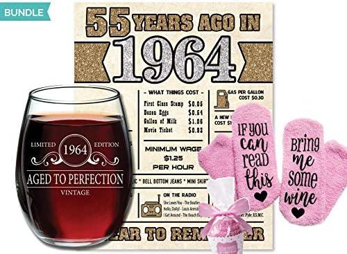 WINE SOCKS] 1964 55th Birthday