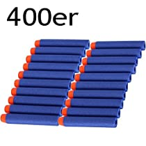 Darts Pfeile für Nerf Zubehör 400er Darts Nachfüllpack für N-Strike Elite Spiezeugblaster Bullets Blau