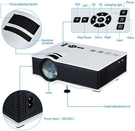 Mini Proyector LED de Quarice UC40+ [HDMI Cable Soporta 1080P ...