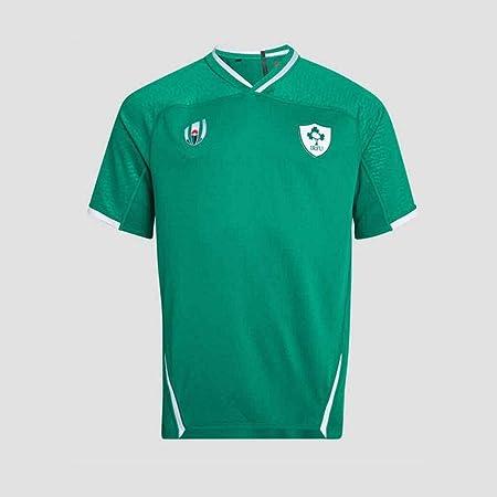 G&F Rugby Camisas Irlanda 2019 Copa Mundial Jersey Manga Corta Respirable Transpiración Casual Camiseta (Color : Green, Size : XXL): Amazon.es: Hogar
