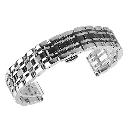 beauty7-black-silver-two-tone-22mm-polished-stainless-steel-solid-link-watch-band-bracelet-strap-rep