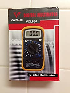 Volmate Digital LCD Voltmeter Ammeter Ohmmeter Multimeter Volt AC DC Tester Meter