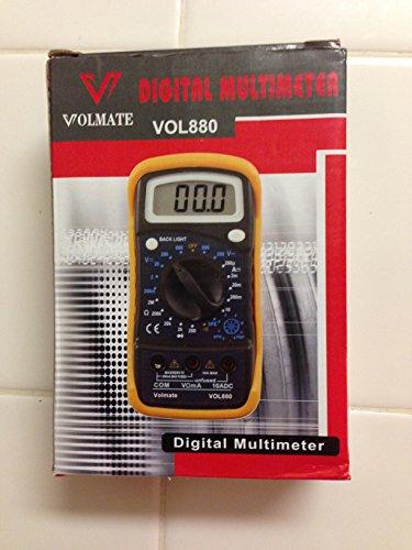 Volmate Digital LCD Voltmeter Ammeter Ohmmeter Multimeter Vo