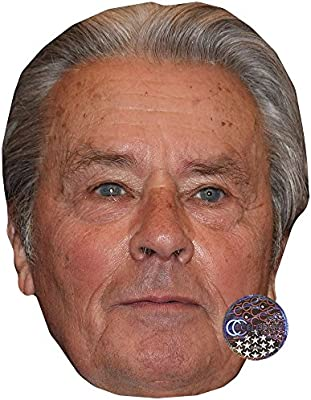 Alain Delon Celebrity Mask Card Face and Fancy Dress Mask