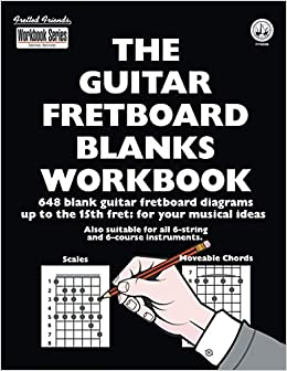 photograph about Guitar Fretboard Diagram Printable known as : The Guitar Fretboard Blanks Workbook: 648 Blank
