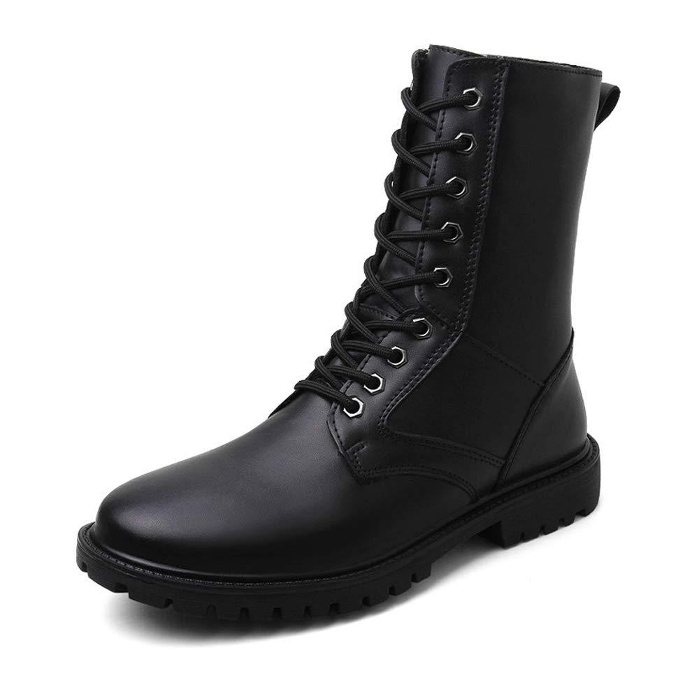 CHENJUAN Schuhe Herrenmode Mitte der der der Wade Stiefel aus echtem Leder High Top Military Schuhe (warmes Fleece gefüttert optional)  2ed937
