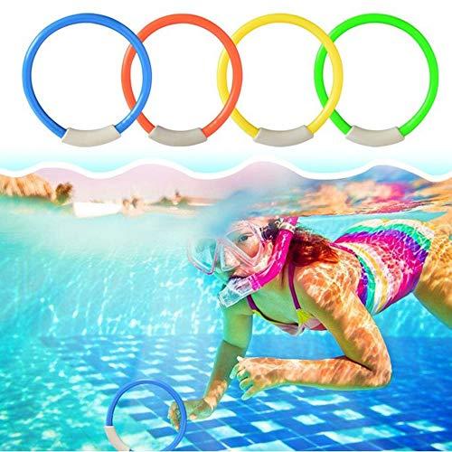 4 Teile//satz Tauchring Schwimmbad Zubeh/ör Schwimmhilfe f/ür Kinder Wasserspiel Tauchen Sport Sommer Strand Spielzeug