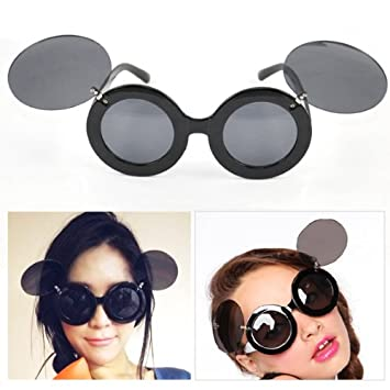 8a90971834c Caltrad Ladies Gaga s Retro Mickey Mouse Paparazzi Flip Up Sunglasses  Glasses (Black)  Amazon.co.uk  Toys   Games