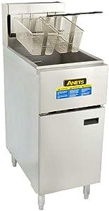 Stainless Steel Liquid Propane 40-50 lb. Silver Line Fryer - 120,000 BTU - Anets