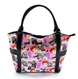 I Love Lucy Pink Collage Large Purse (Pink)