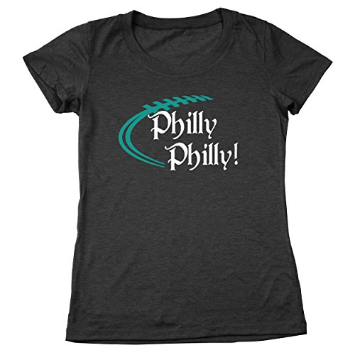 Funny Threads Outlet Philly Philly Philadelphia Eagles Women's Relaxed Fit Tri-Blend T-Shirt Heather Black - Outlets Philly Hours