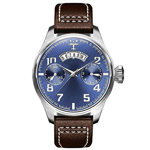 BEWITCHYU  Practical Wristwatches Men 's Casual Fashion Glass and Stainless Steel Quartz Movement Belt Sports Pin Buckle Watch Waterproof Decorative Watch BraceletBrown