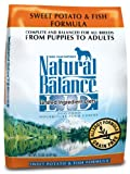 Natural Balance Dry Dog Food, Grain Free Limited Ingredient Diet Fish and Sweet Potato Recipe, 15 Pound Bag, My Pet Supplies