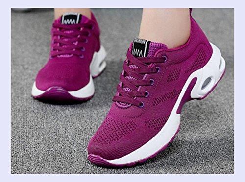 Mujer para De Amortiguación Ligera Masaje Violeta Plataforma Estudiante Zapatos Zapatos De Casual Mujer Zapatillas XINGMU 1EWf0qE