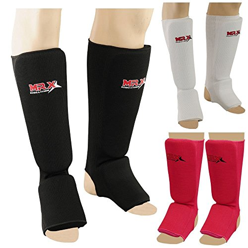 MRX Muay Thai Shin Guard Kick Boxing Leg & Foot Protector Pad MMA