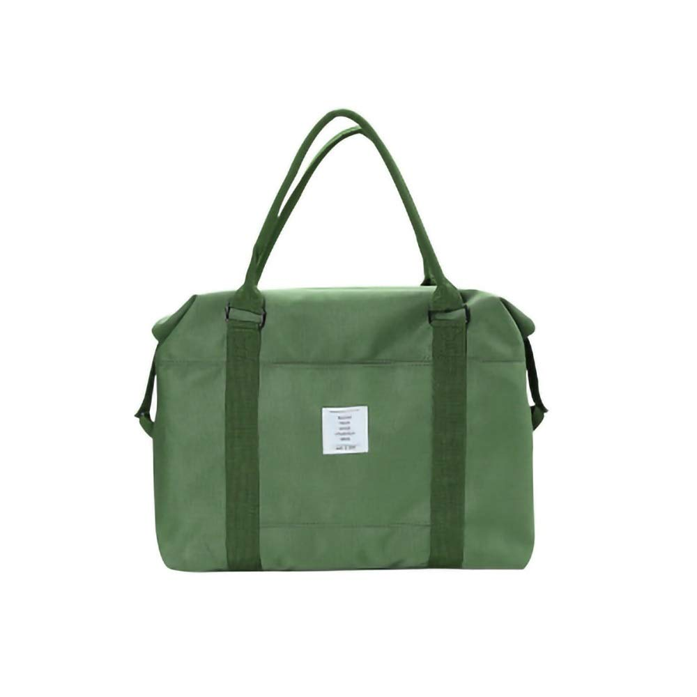 |女性用ジムトートバッグ|ヨガマットホルダーストラップ付きワークアウト財布|ビスタプリントフィットネスの必需品のための広々としたトートバッグ (Color : Green) B07QPKRXQ4