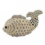 Dazzling 3D Fish Shape Women Crystal Clutch Evening Bags Wedding Cocktail Minaudiere Handbag (Gold)