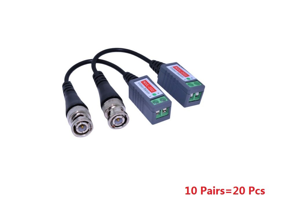 1 Pair/2 Pcs Passive Pigtail Video Balun Coaxial BNC To UTP Cat5 Cable For CCTV Camera Distinct