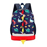 Uworth Dinosaur Kids Backpack Rucksack Boys for Toddler Kindergarten Navy