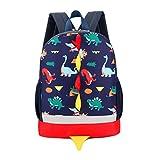 Uworth Dinosaur Kids Backpack Rucksack Boys for Toddler Kindergarten Navy