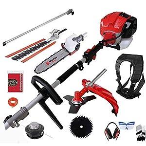 BU-KO 52cc Long Reach Petrol Multi Functional Garden Tool Including: Strimmer, Hedge Trimmer, Pruner Chainsaw, Brush…