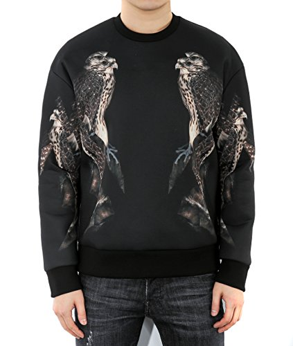 wiberlux-neil-barrett-mens-double-eagle-print-side-zipper-sweatshirt-m-black